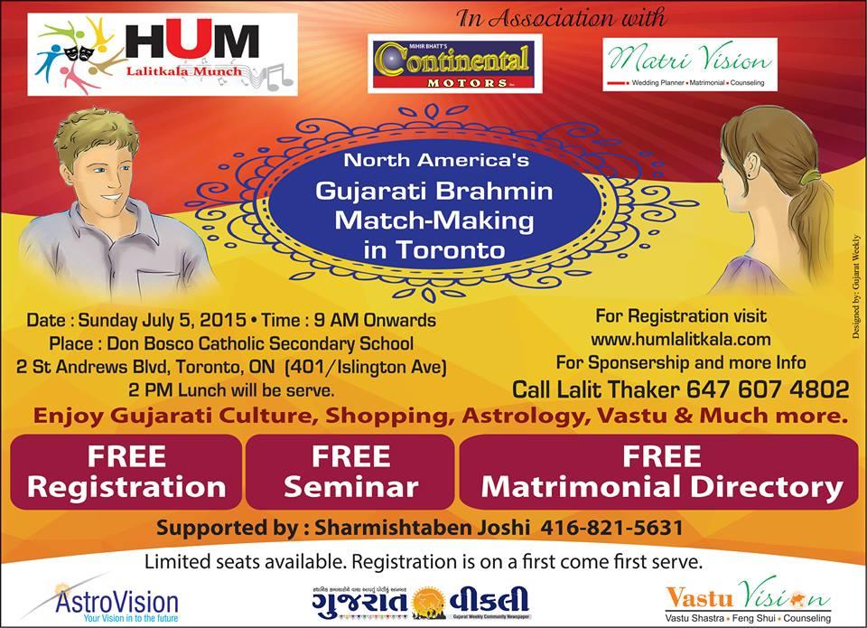 Gujarati Brahmin Match-Making in Toronto
